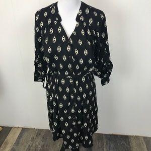 41 Hawthorne Black V Neck Midi Dress